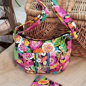 Vera Bradley Va Va Blooms Clare Shoulder Bag